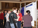 At the poster session